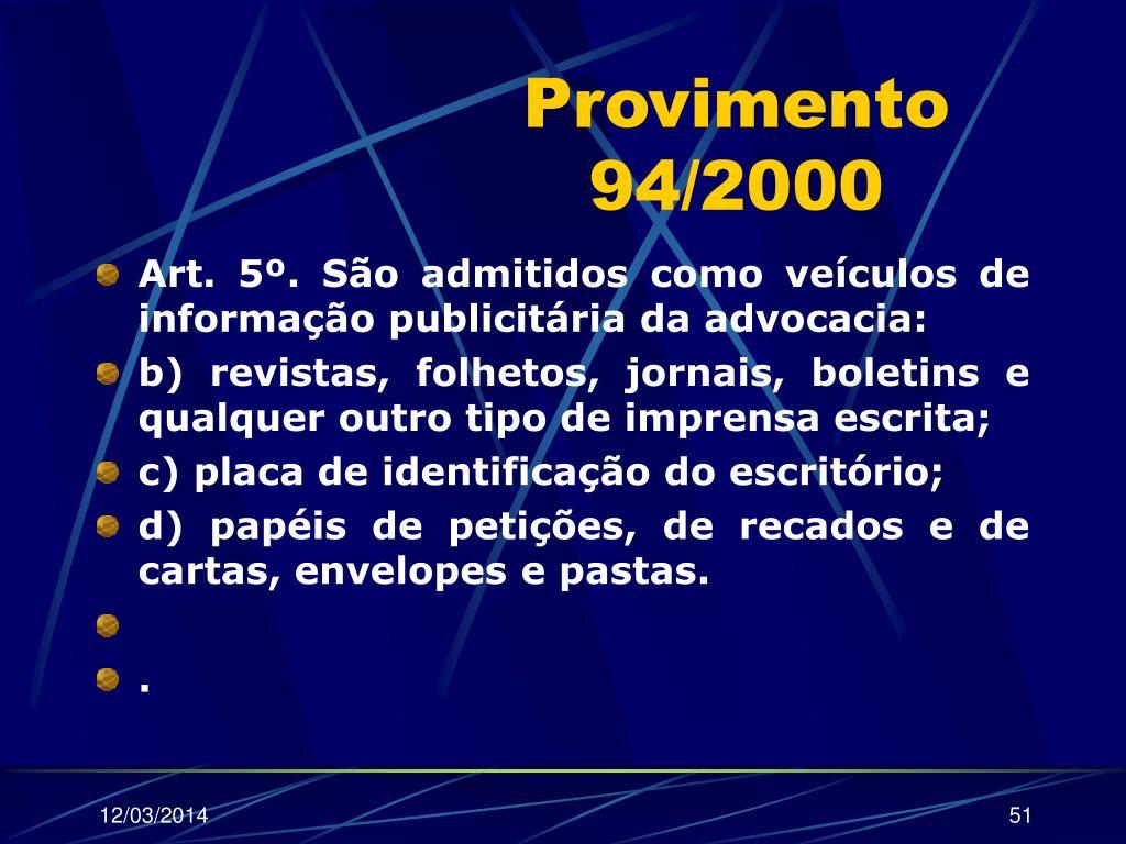 Provimento 94/2000