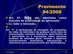 provimento 94 200052