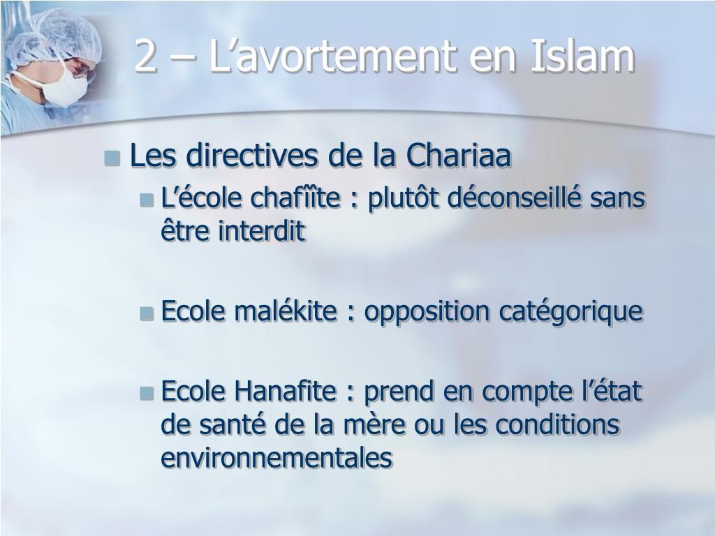 2 – L'avortement en Islam