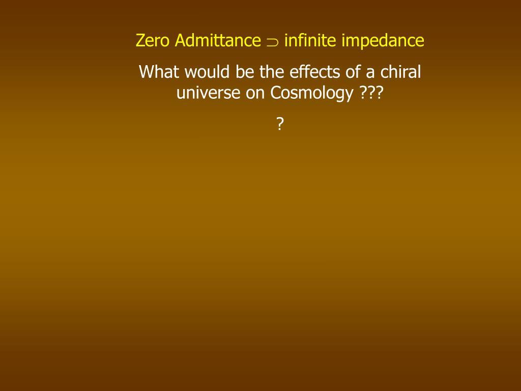 Zero Admittance