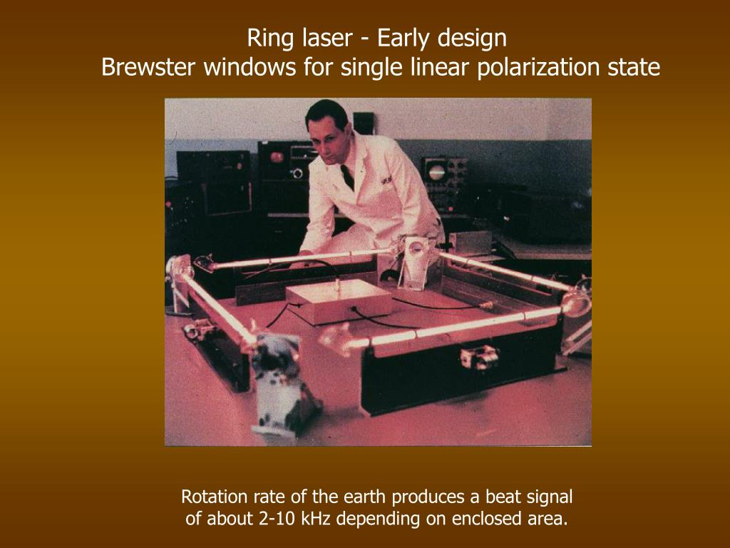 Ring laser - Early design