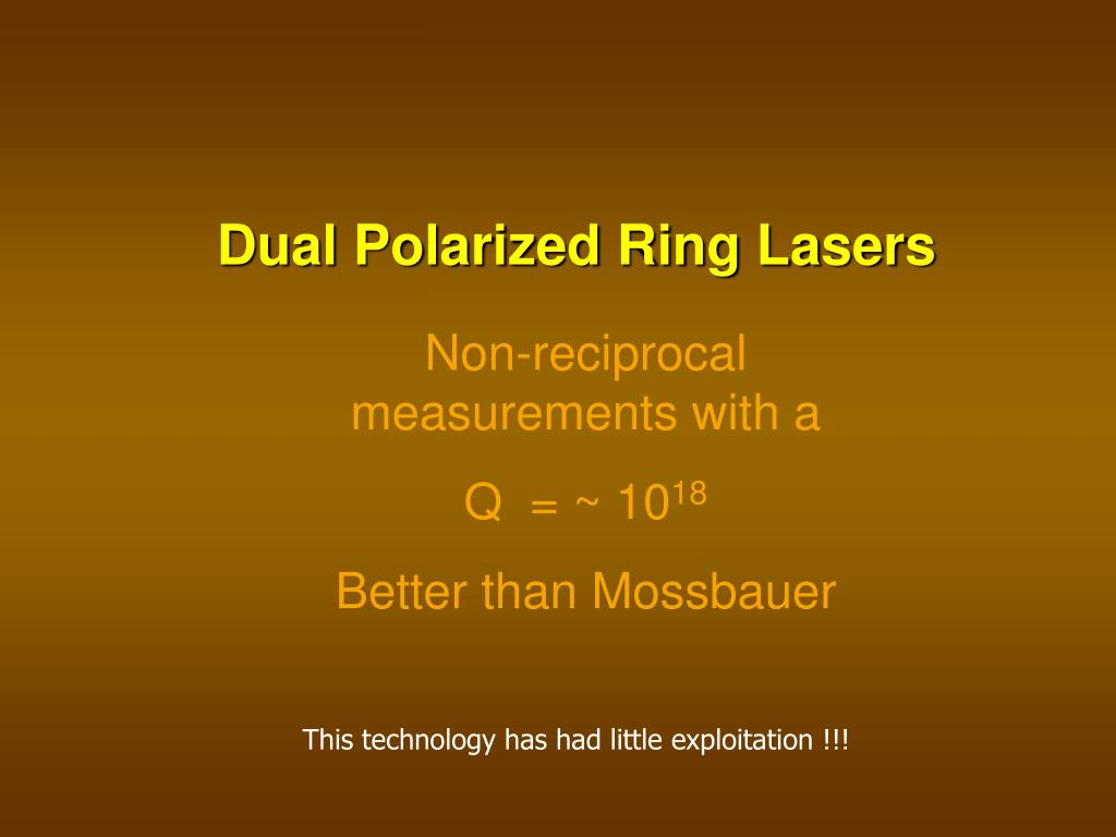 Dual Polarized Ring Lasers