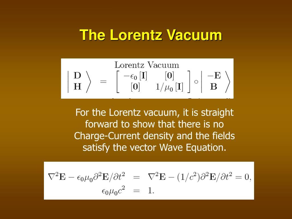 The Lorentz Vacuum