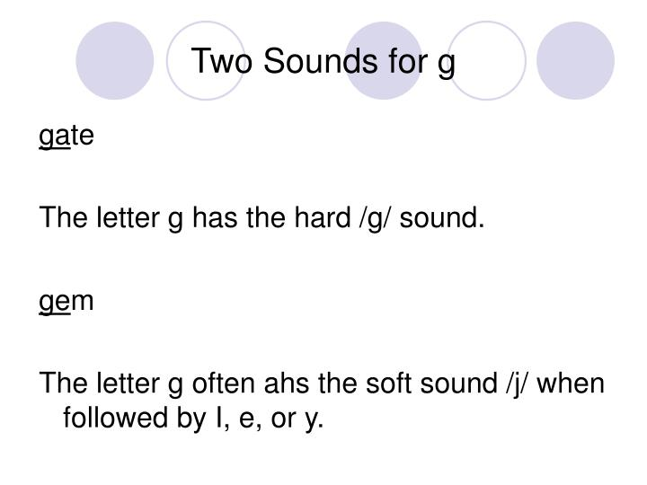 Two sounds for g3