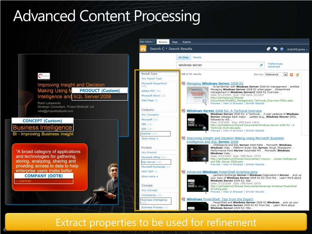 Advanced Content Processing