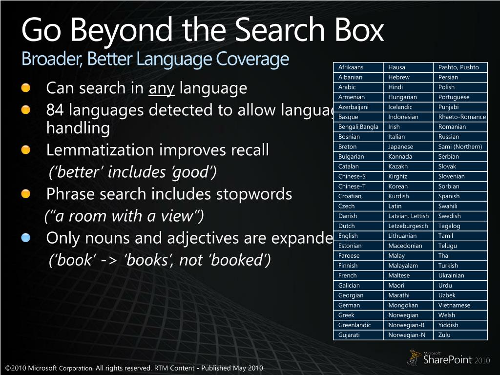 Go Beyond the Search Box