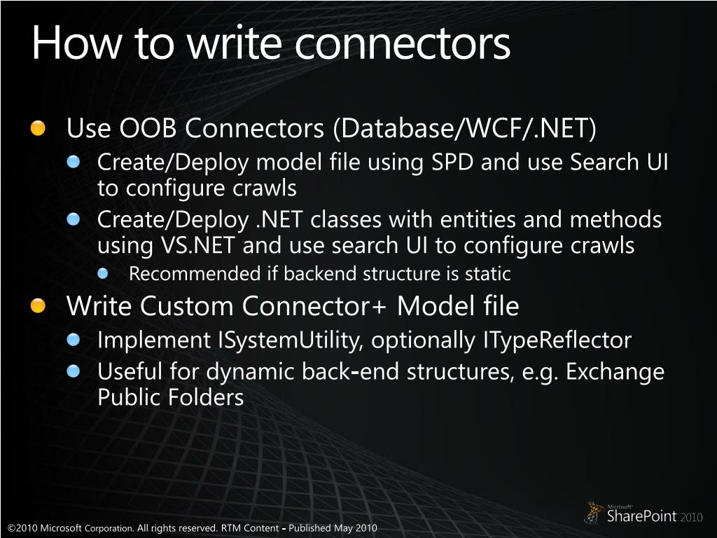 How to write connectors