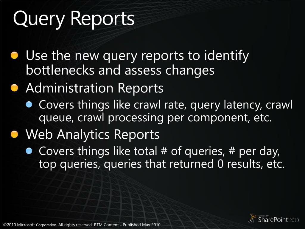 Query Reports