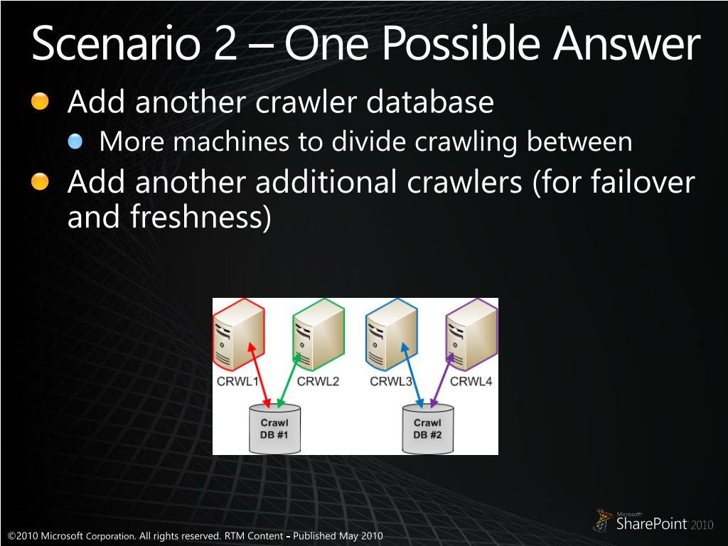 Scenario 2 – One Possible Answer