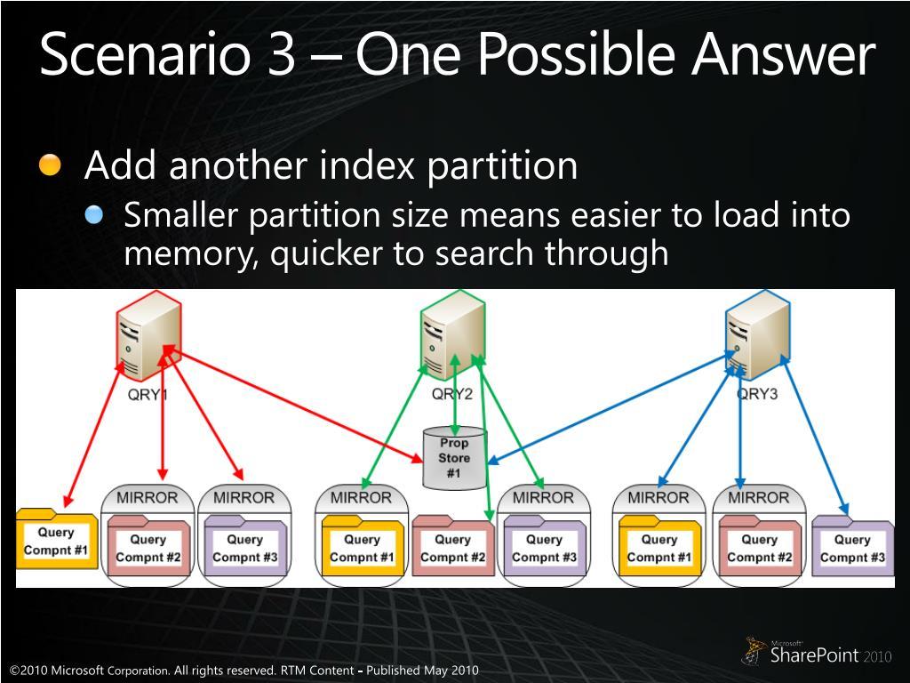 Scenario 3 – One Possible Answer
