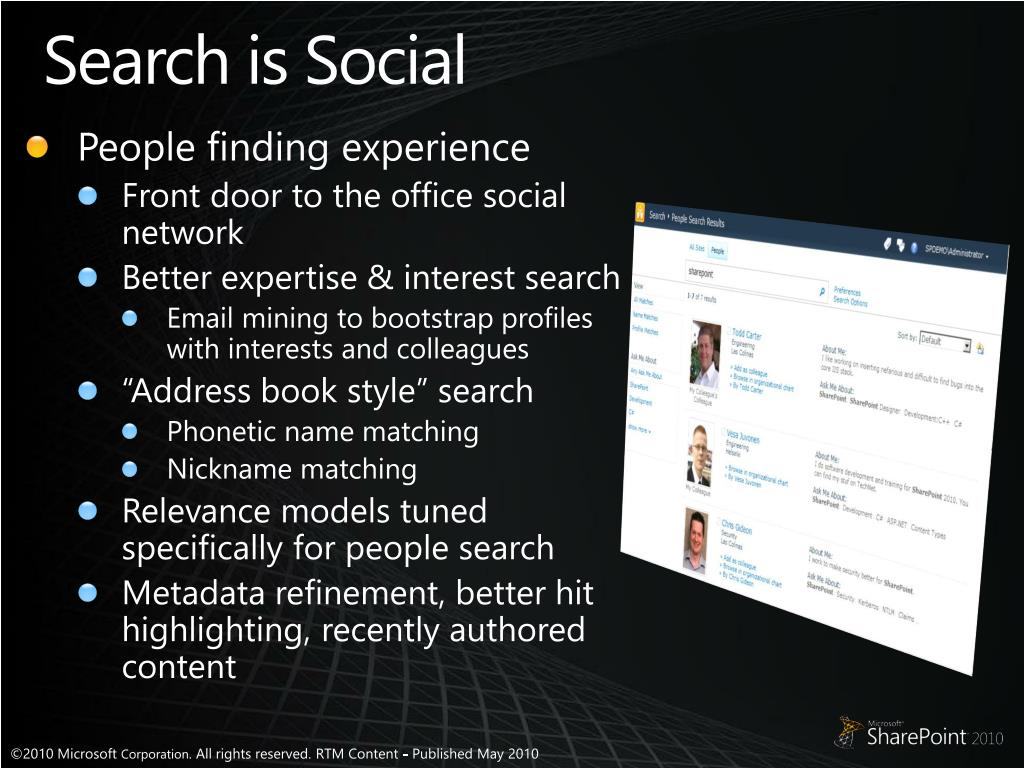 Search is Social