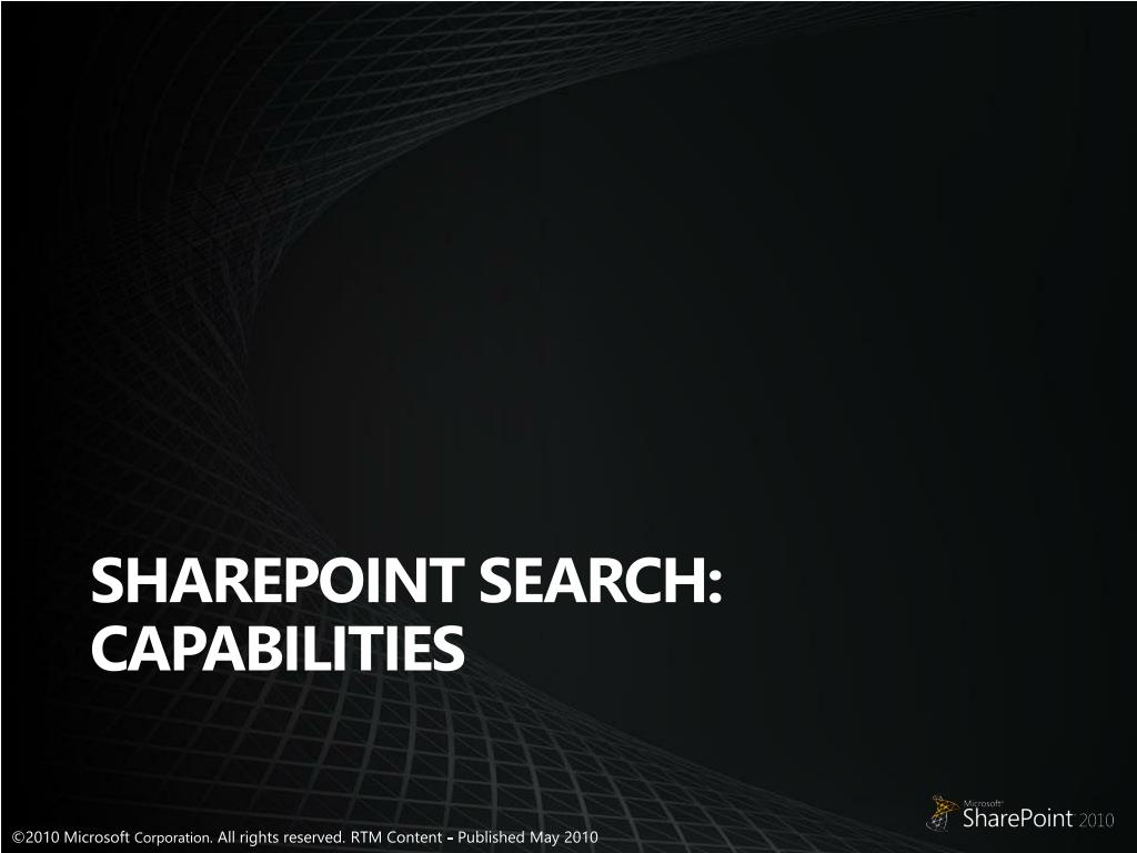 SharePoint Search: Capabilities