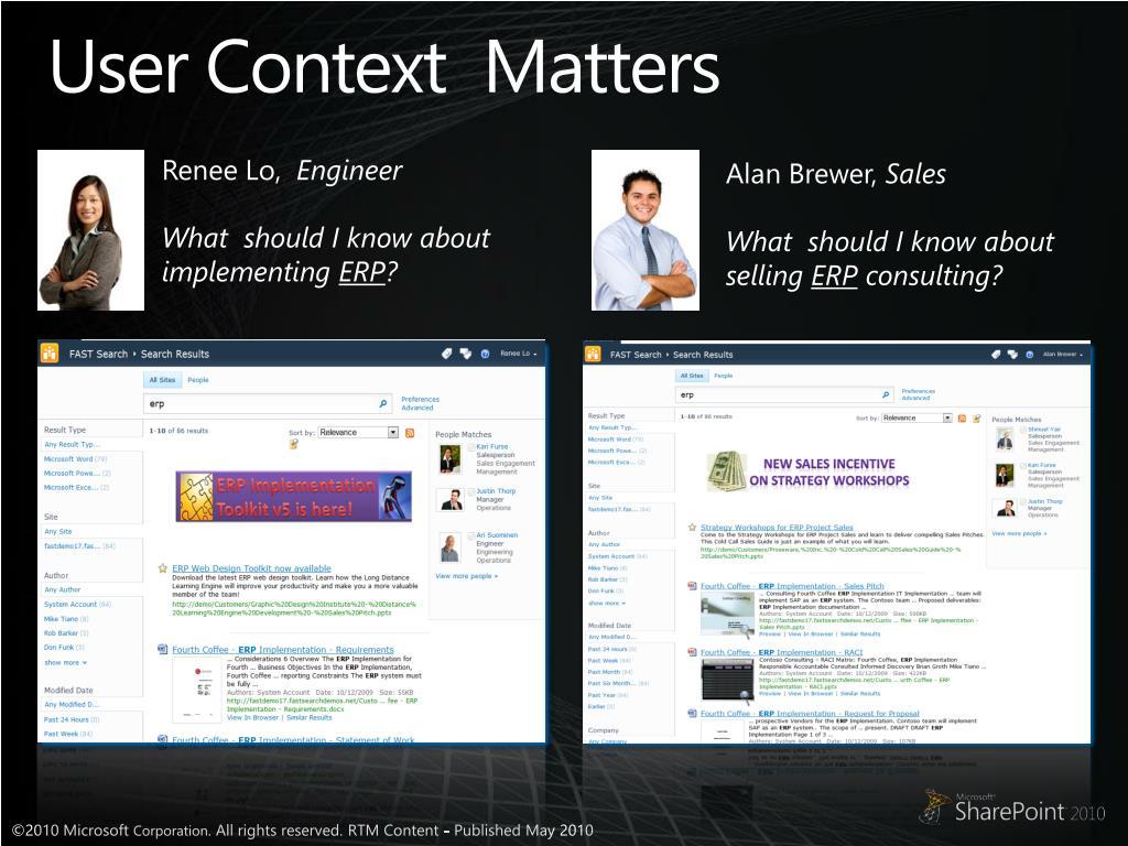 User Context  Matters