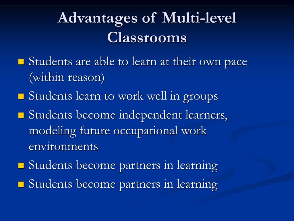 Advantages of Multi-level Classrooms