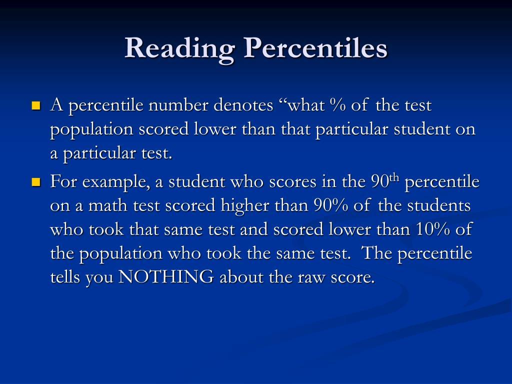 Reading Percentiles