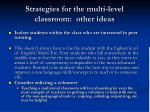 strategies for the multi level classroom other ideas