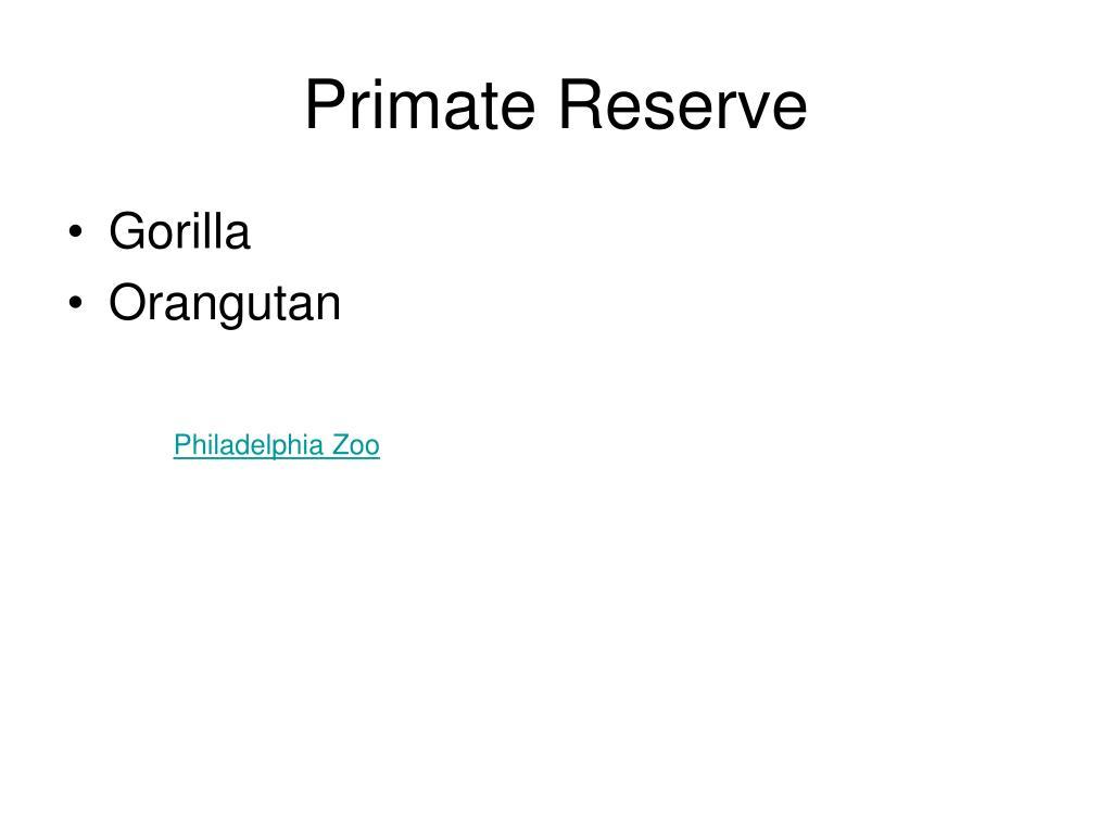 Primate Reserve