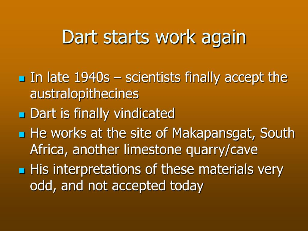 Dart starts work again