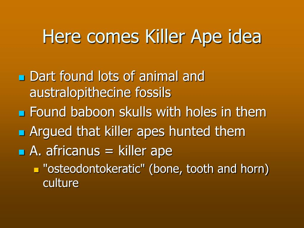 Here comes Killer Ape idea