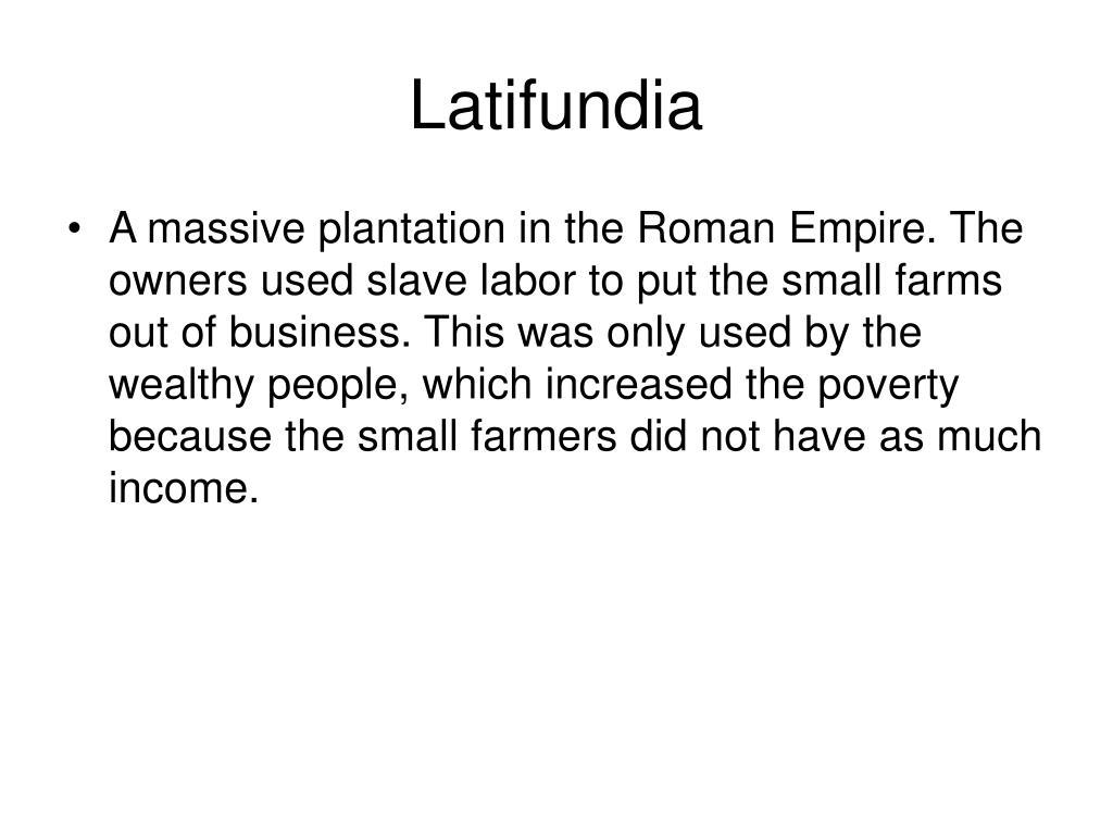 Latifundia