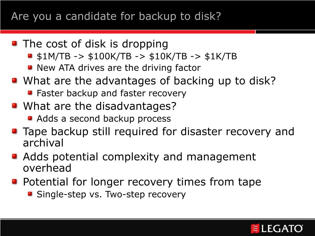 Are you a candidate for backup to disk?