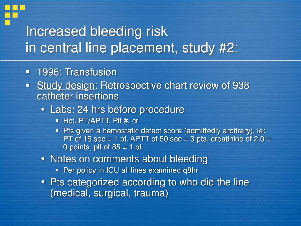 Increased bleeding risk