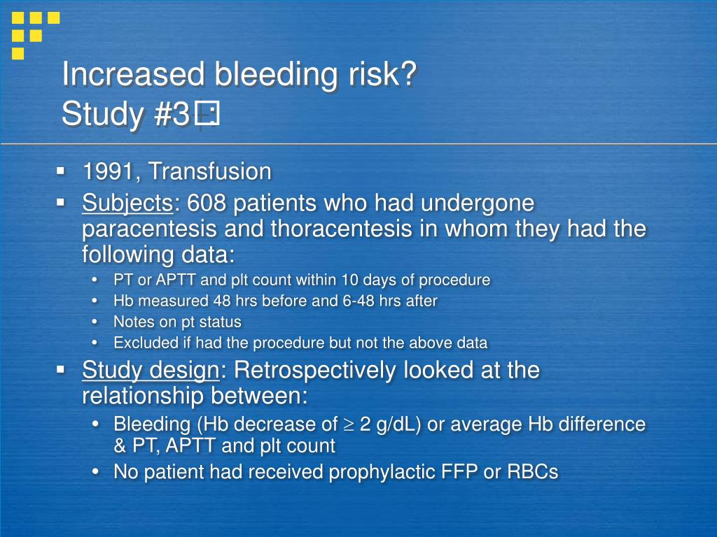 Increased bleeding risk?