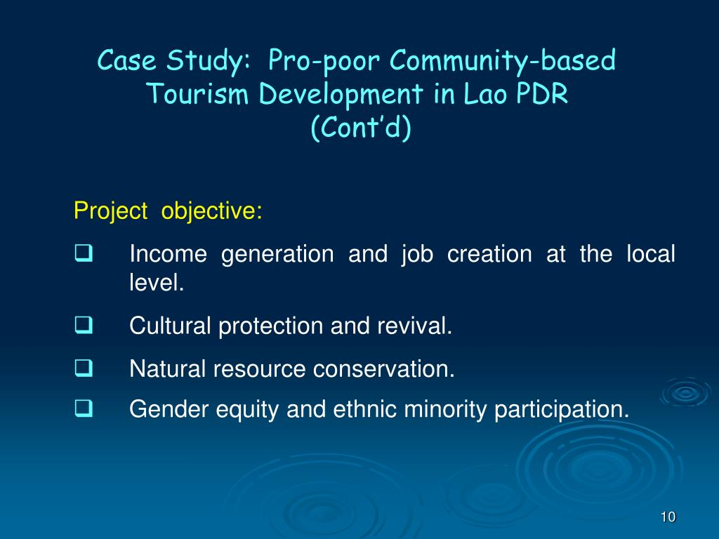 Case Study:  Pro-poor Community-based