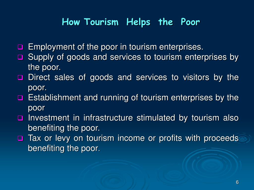 How Tourism  Helps  the  Poor