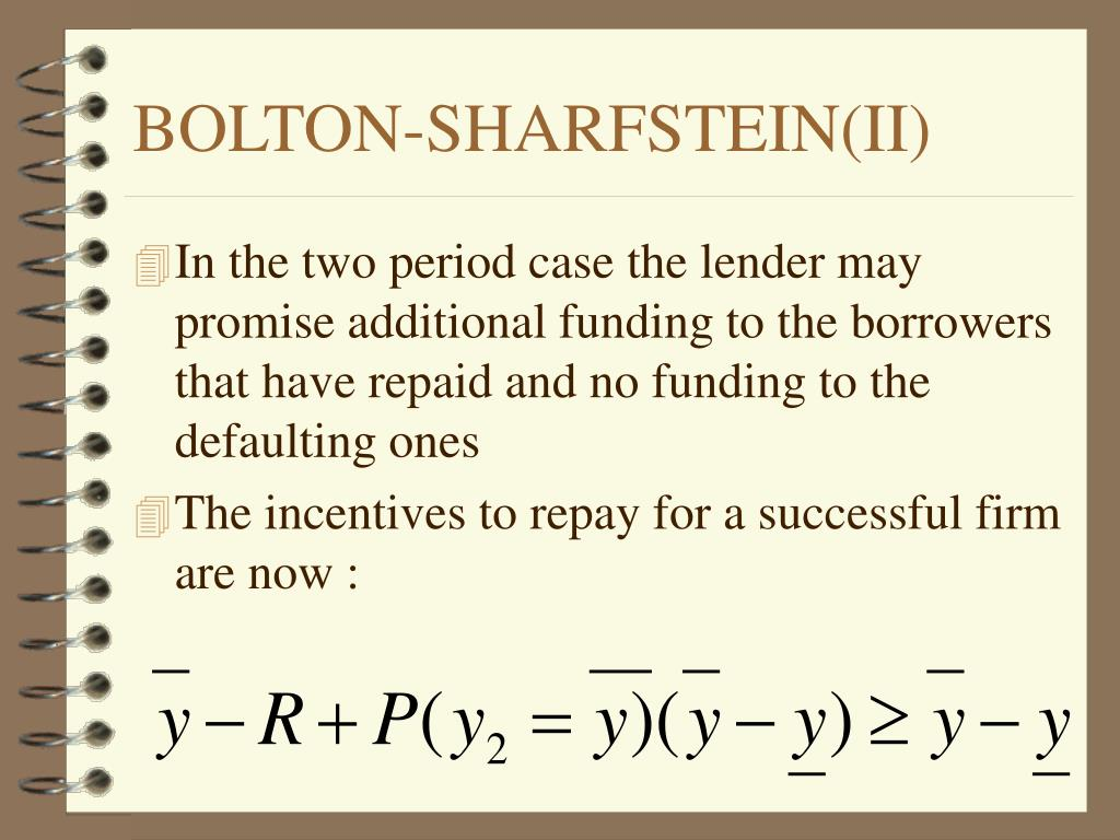 BOLTON-SHARFSTEIN(II)