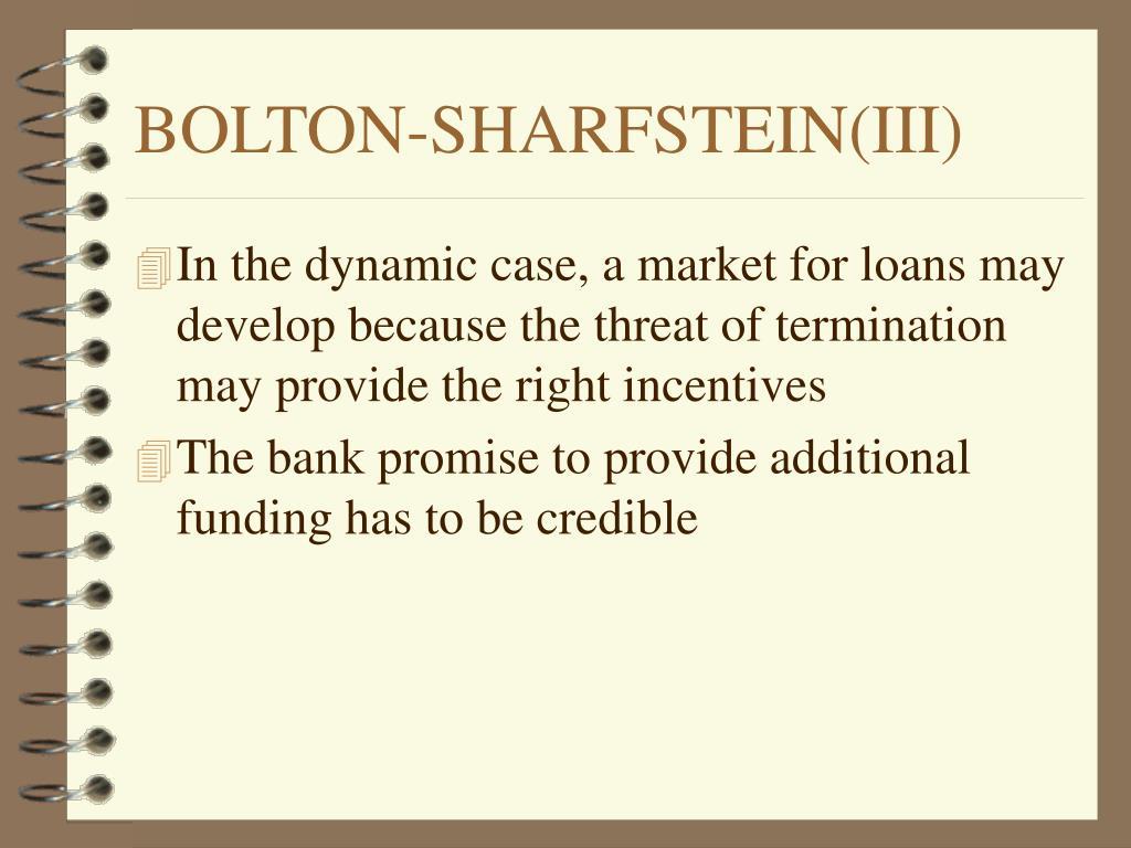 BOLTON-SHARFSTEIN(III)