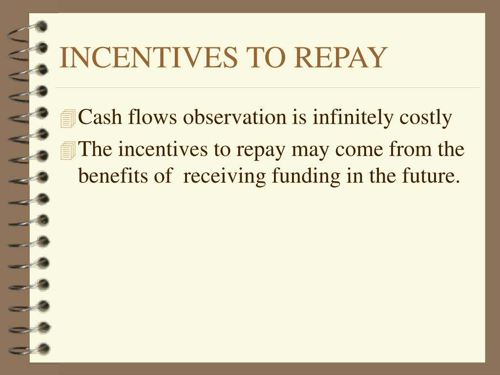 INCENTIVES TO REPAY