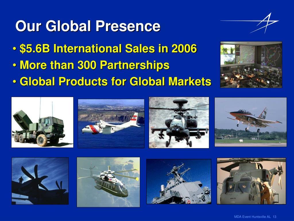 $5.6B International Sales in 2006