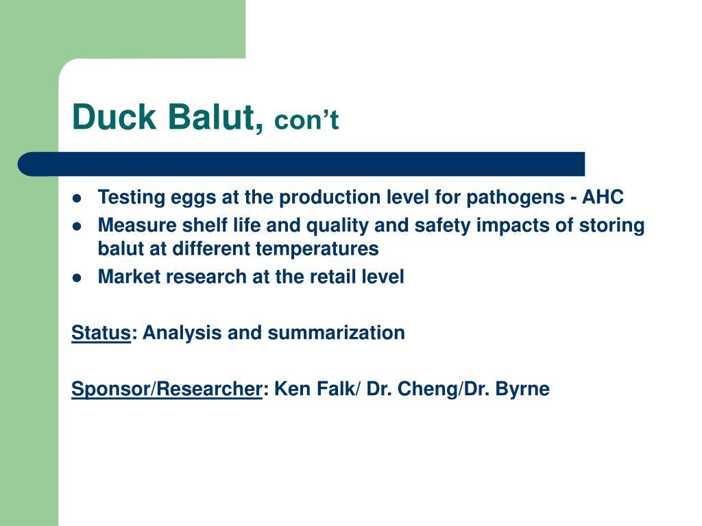 Duck Balut,