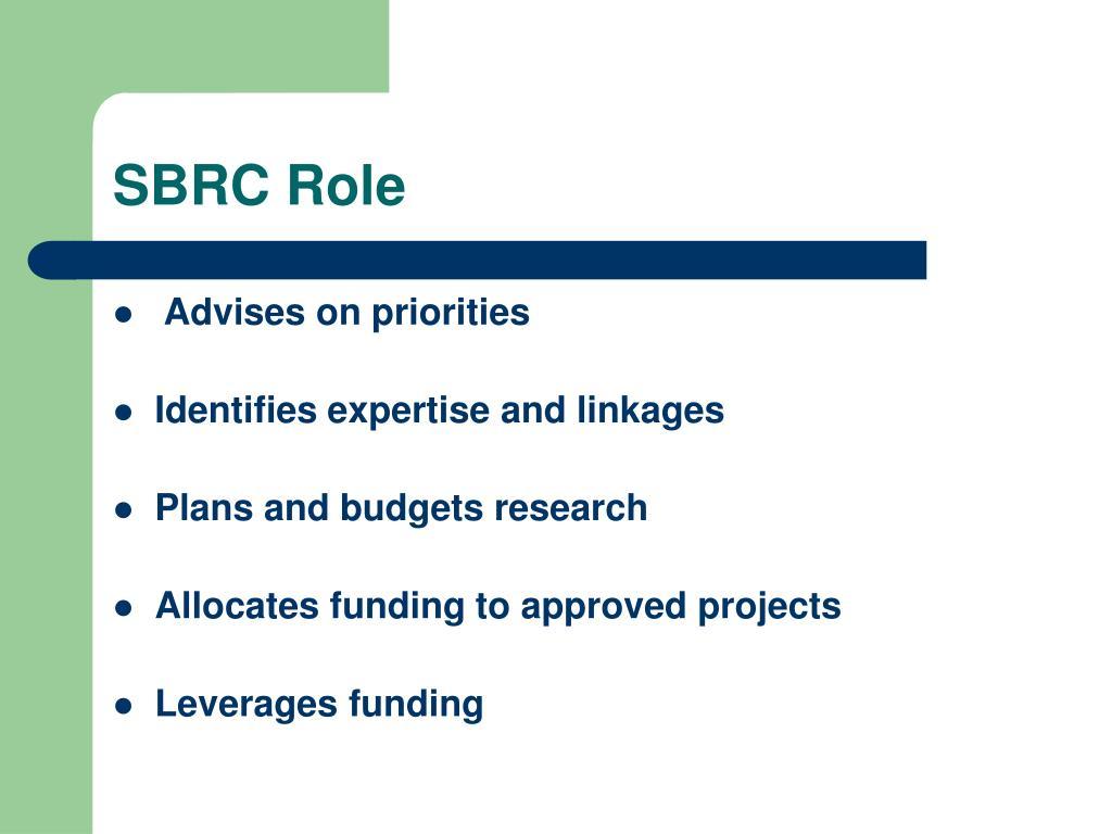 SBRC Role