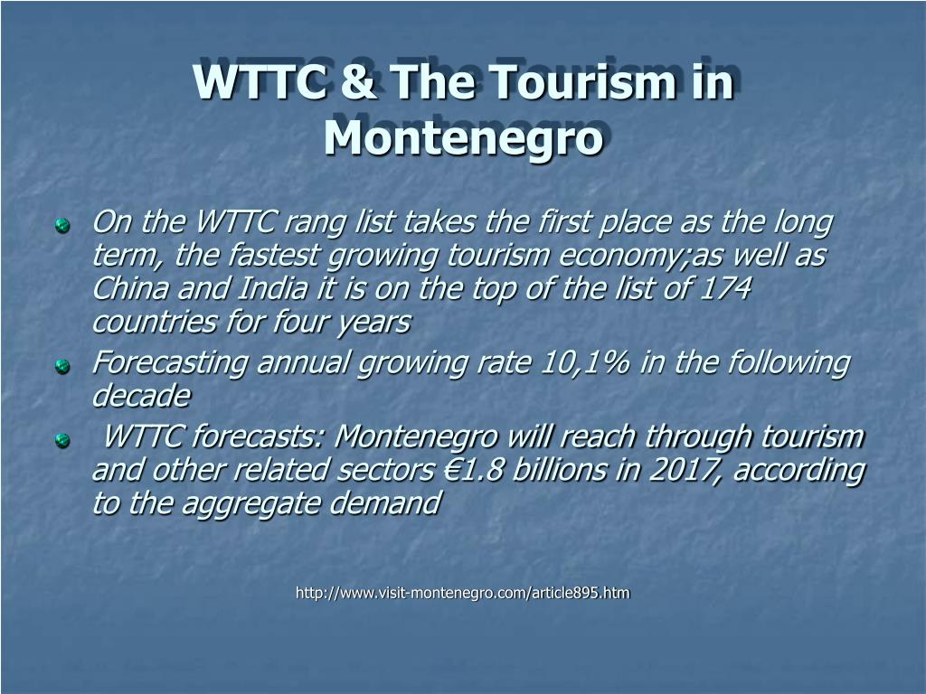 WTTC & The Tourism in Montenegro