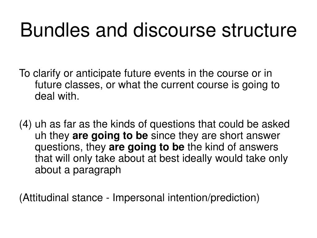 Bundles and discourse structure