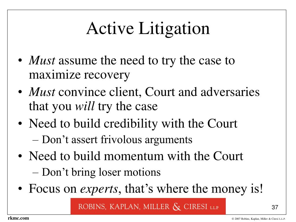 Active Litigation