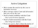 active litigation