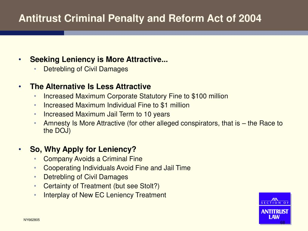 Antitrust Criminal Penalty and Reform Act of 2004