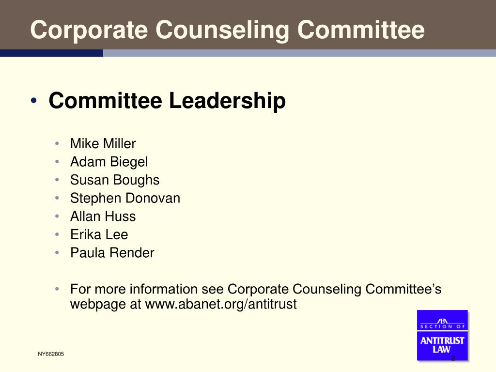 Corporate Counseling Committee