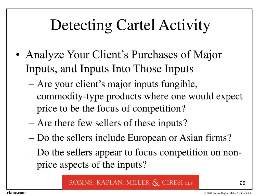 Detecting Cartel Activity