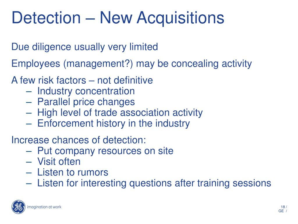 Detection – New Acquisitions