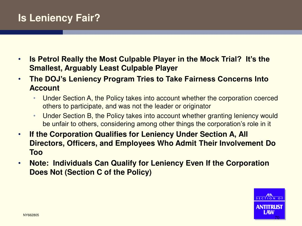 Is Leniency Fair?