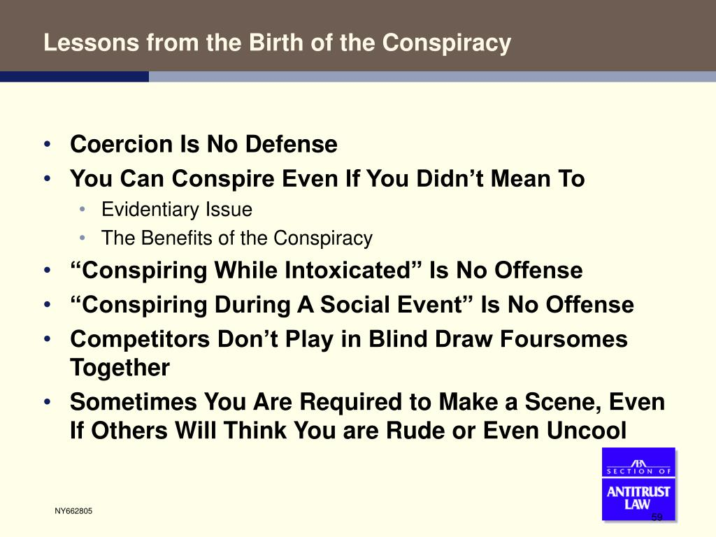 Lessons from the Birth of the Conspiracy