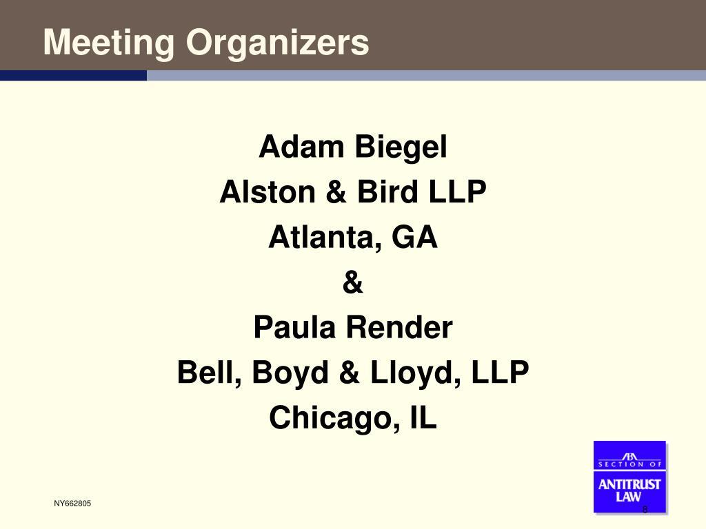 Meeting Organizers
