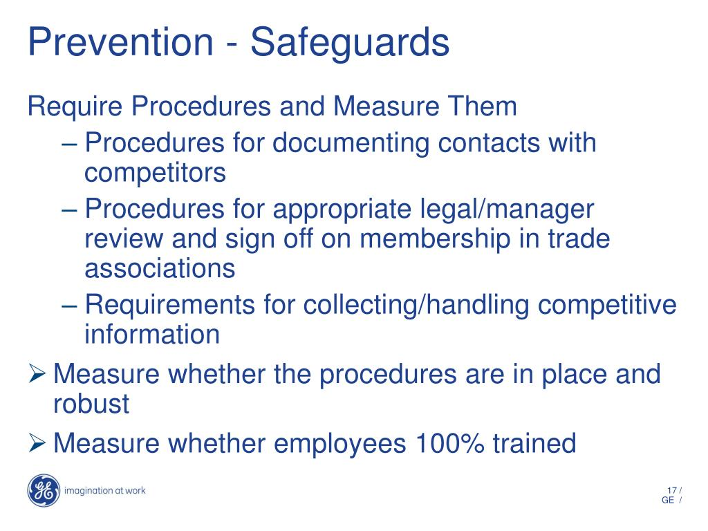 Prevention - Safeguards