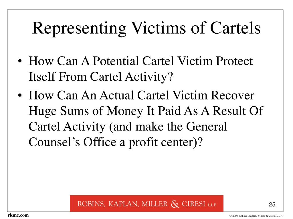 Representing Victims of Cartels