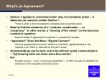 what s an agreement