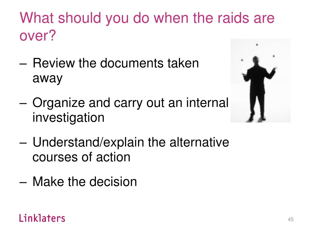 What should you do when the raids are over?